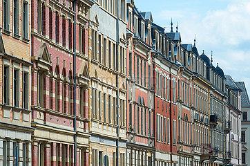 Dresden  Deutschland - Gründerzeit-Fassaden im Stadtteil Pieschen