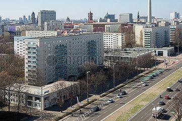 Berlin  Deutschland  Mitte - Stadtansicht der City Ost