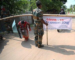 INDIA-AGARTALA-COVID-19-CONTAINMENT ZONE