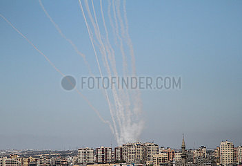 MIDEAST-GAZA-ROCKETS-ATTACK