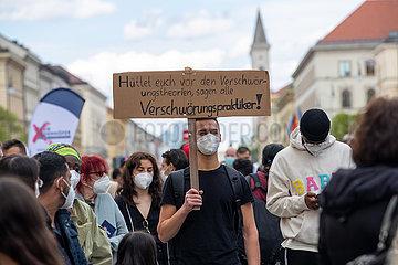 Kundgebung vom Team Todenhöfer in München