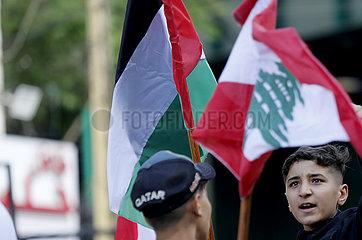LEBANON-BEIRUT-PALESTINE-DEMONSTRATION-SOLIDARITY