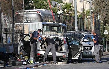MIDEAST-JERUSALEM-CAR RAMMING ATTACK