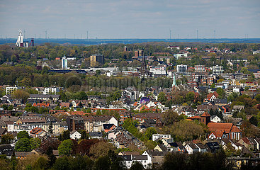 Herten  Stadtlandschaft  Ruhrgebiet  Nordrhein-Westfalen  Deutschland  Europa