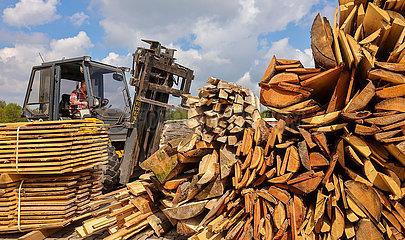 Restholz im Saegewerk  Solingen  Nordrhein-Westfalen  Deutschland  Europa