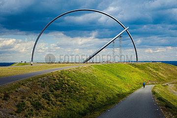 Horizontobservatorium auf der Halde Hoheward  Herten  Ruhrgebiet  Nordrhein-Westfalen  Deutschland  Europa