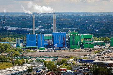 Abfallkraftwerk AGR-RZR Herten  Ruhrgebiet  Nordrhein-Westfalen  Deutschland  Europa