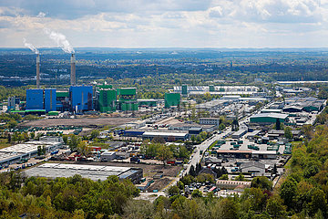 Gewerbegebiet  Abfallkraftwerk AGR-RZR Herten  Ruhrgebiet  Nordrhein-Westfalen  Deutschland  Europa