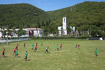 Kroatien  Rasa - Fussballspiel zweier Jugendmannschaften