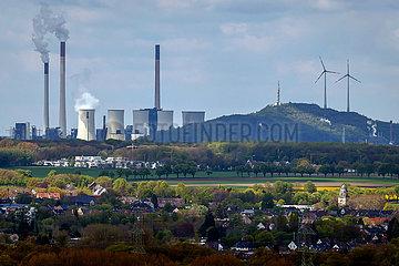 Industrielandschaft im Ruhrgebiet  Uniper Kraftwerk Scholven in Gelsenkirchen  Ruhrgebiet  Nordrhein-Westfalen  Deutschland  Europa