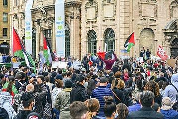 Proteste gegen israelische Politik  Marseille
