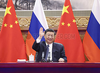 CHINA-RUSSIA-XI JINPING-PUTIN-NUCLEAR ENERGY COOPERATION PROJECT-GROUND-BREAKING (CN)