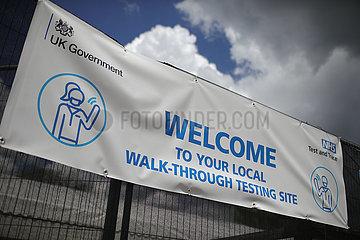 UK-BEDFORD-COVID-19-SURGE TESTS-VARIANT