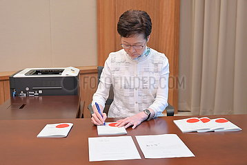 CHINA-Hongkong CARO LAM-LAW-SIGNING (CN)