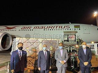 MAURITIUS-CHINA-IMPFSTOFFE-Arrival (CN)