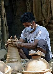 KASHMIR-JAMMU-POT MAKING