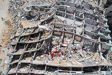 MIDEAST-GAZA-zerstörte Gebäude