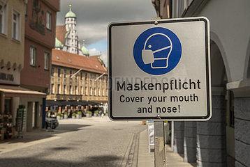 Maskenpflicht  Memmingen  Mai 2021