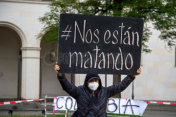 Solidaritätskundgebung mit den Protesten in Kolumbien