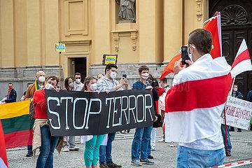 München: Belarussen demonstrieren gegen Lukaschenko