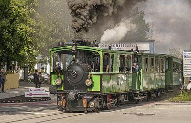 historische Chiemsee-Bahn in Prien  Mai 2021