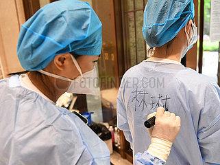CHINA-GUANGZHOU-COVID-19-Probanden (CN) CHINA-GUANGZHOU-COVID-19-Probanden (CN)