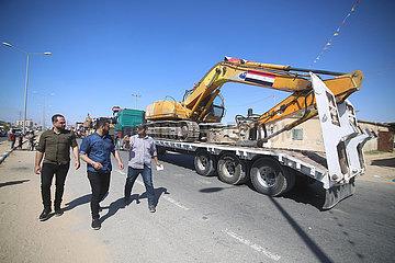 MIDEAST-GAZA-RAFAH-MACHINES aus Ägypten-ANREISE