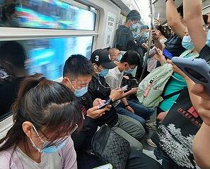 (BeijingCandid) CHINA Beijing-PENDLER (CN)