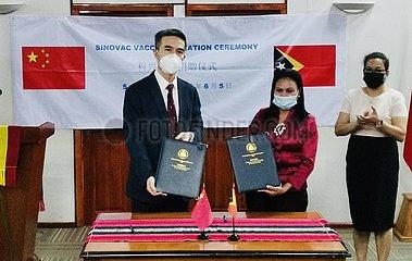 Timor-Leste-DILI-CHINA-GESPENDET-IMPFSTOFFE