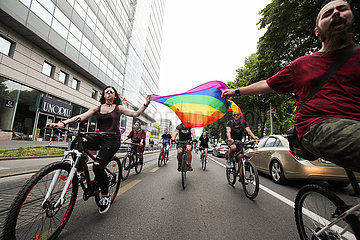 KROATIEN-ZAGREB-LGBTQ-PRIDE RIDE