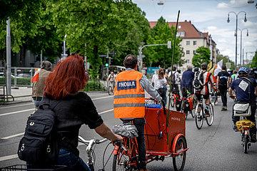 München: Fahrrad-Demonstration gegen Klimakrise & Autobahnausbau