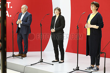 Pressekonferenz der SPD nach den Landtagswahlen von Sachsen-Anhalt  Willy Brandt Haus  7. Juni 2021