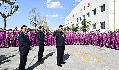 CHINA-QINGHAI-XINING-XI jinping-Inspektion (CN)