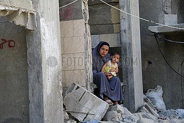 MIDEAST-GAZA-Beit Hanun-zerstörte Gebäude
