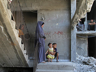 MIDEAST-GAZA-Beit Hanun-zerstörte Gebäude MIDEAST-GAZA-Beit Hanun-zerstörte Gebäude