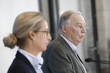 Pressekonferenz der AfD-Bundestagsfraktion  Reichstag  8. Juni 2021