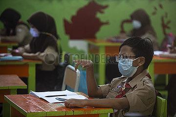 INDONESIA-JAKARTA-FACE-TO-FACE LEARNING-COVID-19