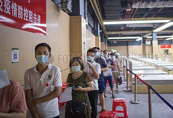 CHINA-WUHAN-behelfsmäßige HOSPITAL-Impfstelle (CN)