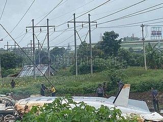 (SPOT NEWS)MYANMAR-PYIN OO LWIN-PLANE CRASH
