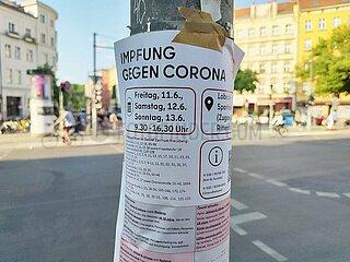 Aufruf zur Stadtteil-Impfung in Berlin-Kreuzberg