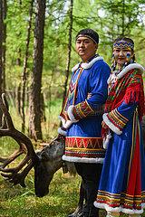 CHINA-INNER MONGOLIA-Ewenki ethnische Gruppe-traditionelle Hochzeit (CN)