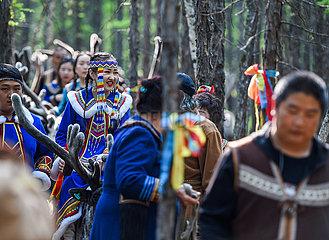 CHINA-INNER MONGOLIA-EWENKI ETHNIC GROUP-TRADITIONAL WEDDING (CN)