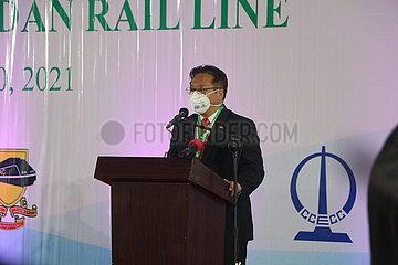 NIGERIA-LAGOS-CHINA-ASSISTIERTE BAHN-kommerzieller Betrieb