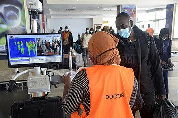 UGANDA-ENTEBBE-AIRPORT-COVID-19