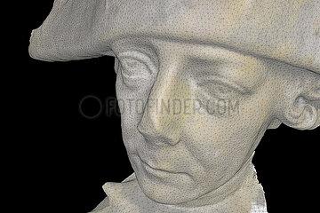 CGI-Visualisierung: Portrait: der alte Fritz  Friedrich der Grosse