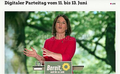 Annalena Baerbock - Kanzlerkandidatin  Greens Party Digital Congress