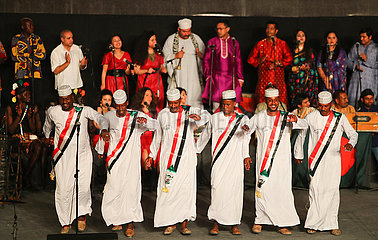 EGYPT-CAIRO-INTERNATIONAL FESTIVAL FOR DRUMS AND TRADITIONAL ARTS-OPENING