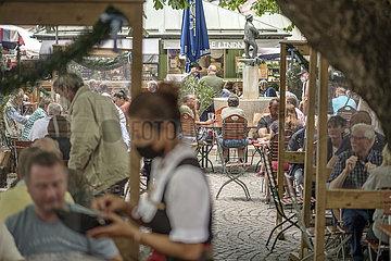 Biergarten  Viktualienmarkt  9.Juni 2021