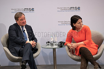 Bundestagswahl 2021: Annalena Baerbock und Armin Laschet bei der MSC