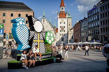 In München kommt langsam EM Stimmung auf
